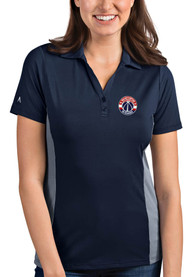 Washington Wizards Womens Antigua Venture Polo Shirt - Navy Blue