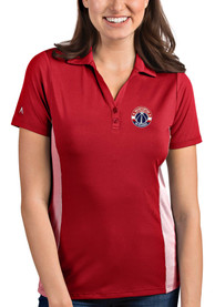 Washington Wizards Womens Antigua Venture Polo Shirt - Red