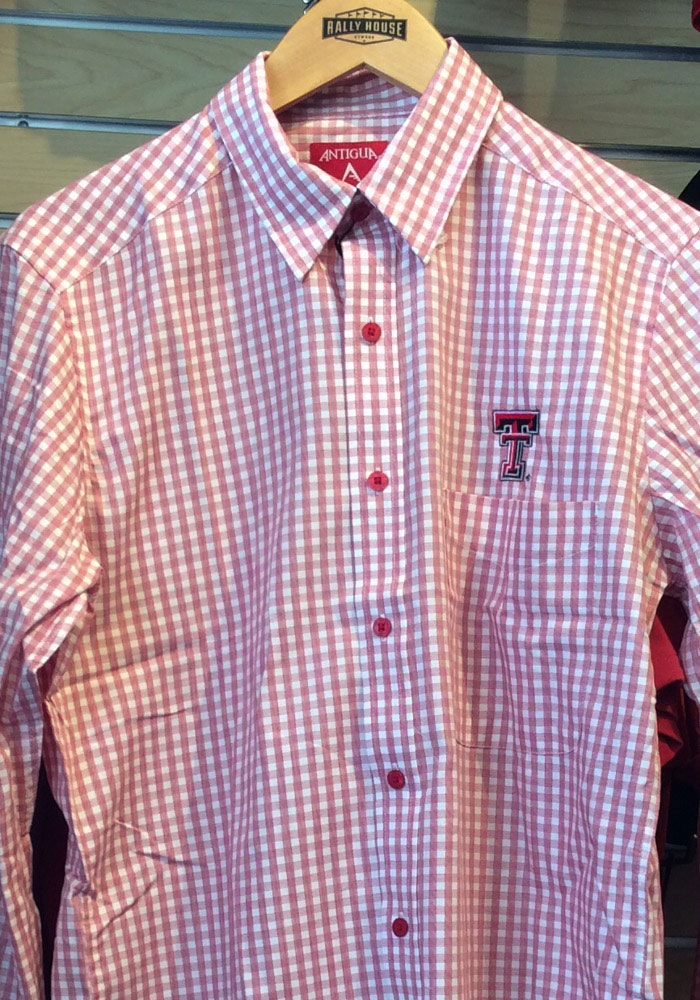 Antigua Texas Tech Red Raiders Mens Red Structure Long Sleeve Dress Shirt - Image 1