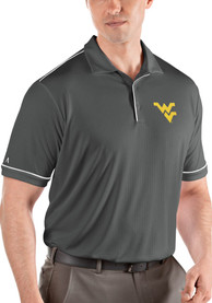 West Virginia Mountaineers Antigua Salute Polo Shirt - Grey
