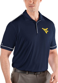 West Virginia Mountaineers Antigua Salute Polo Shirt - Navy Blue