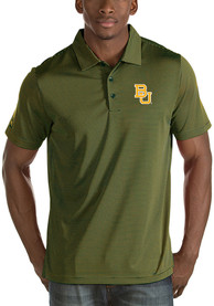 Antigua Baylor Bears Green Quest Short Sleeve Polo Shirt
