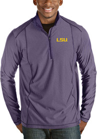 Antigua LSU Tigers Purple Tempo 1/4 Zip Pullover