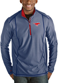 Antigua SMU Mustangs Blue Tempo 1/4 Zip Pullover