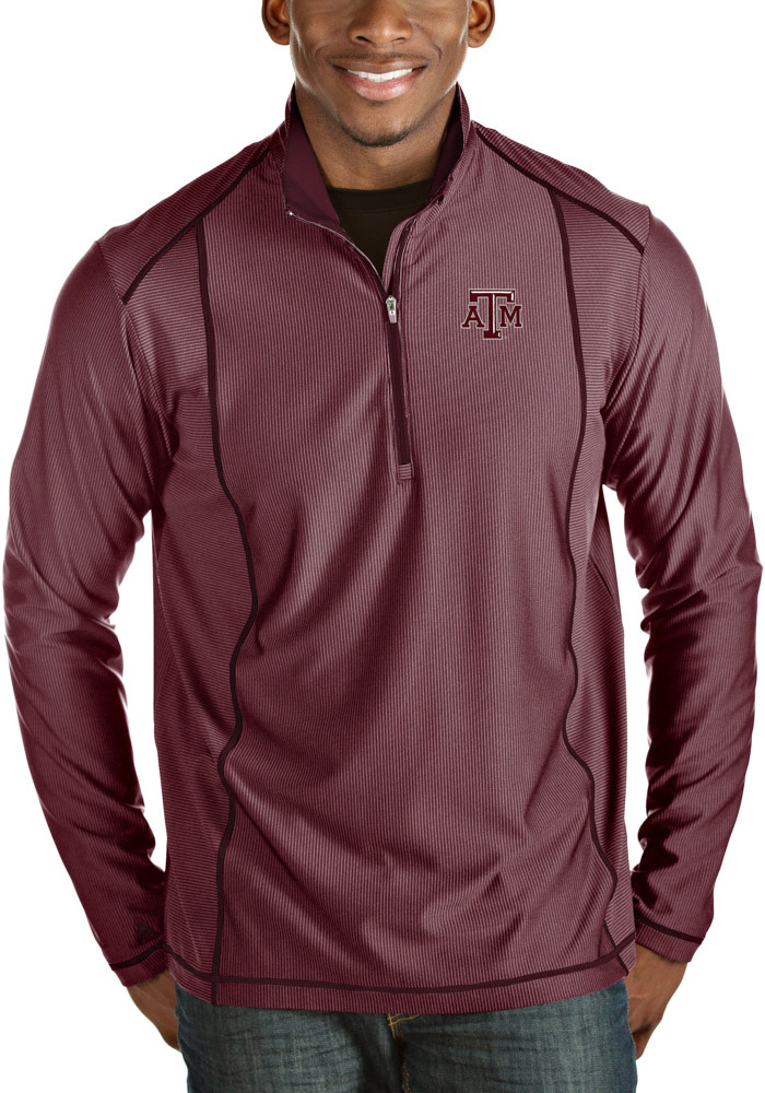 Antigua Texas A&M Aggies Maroon Tempo 1/4 Zip Pullover