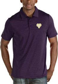 Antigua West Chester Golden Rams Purple Quest Short Sleeve Polo Shirt