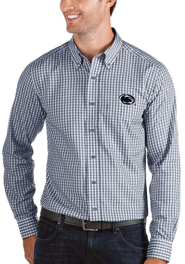 Antigua Penn State Nittany Lions Mens Navy Blue Structure Long Sleeve Dress Shirt - Image 1