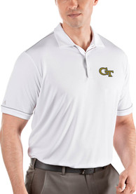 GA Tech Yellow Jackets Antigua Salute Polo Shirt - White
