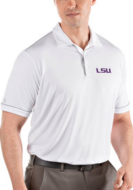 LSU Tigers Antigua Salute Polo Shirt - White