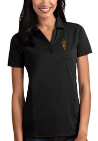Arizona State Sun Devils Womens Antigua Tribute Polo Shirt - Black