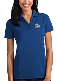 San Jose State Spartans Womens Antigua Tribute Polo Shirt - Blue