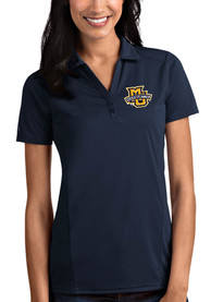 Marquette Golden Eagles Womens Antigua Tribute Polo Shirt - Navy Blue