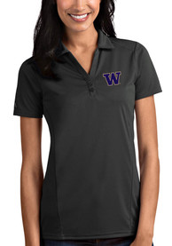 Washington Huskies Womens Antigua Tribute Polo Shirt - Grey