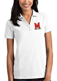 Maryland Terrapins Womens Antigua Tribute Polo Shirt - White