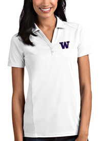 Washington Huskies Womens Antigua Tribute Polo Shirt - White