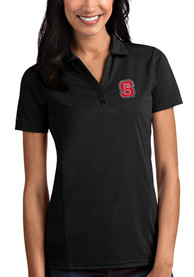 NC State Wolfpack Womens Antigua Tribute Polo Shirt - Black