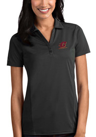 Central Michigan Chippewas Womens Antigua Tribute Polo Shirt - Grey