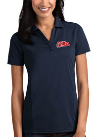 Ole Miss Rebels Womens Antigua Tribute Polo Shirt - Navy Blue