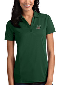 Ohio Bobcats Womens Antigua Tribute Polo Shirt - Green