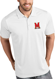 Maryland Terrapins Antigua Tribute Polo Shirt - White
