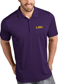 Antigua LSU Tigers Purple Tribute Short Sleeve Polo Shirt