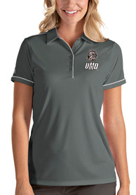 UMD Bulldogs Womens Antigua Salute Polo Shirt - Grey
