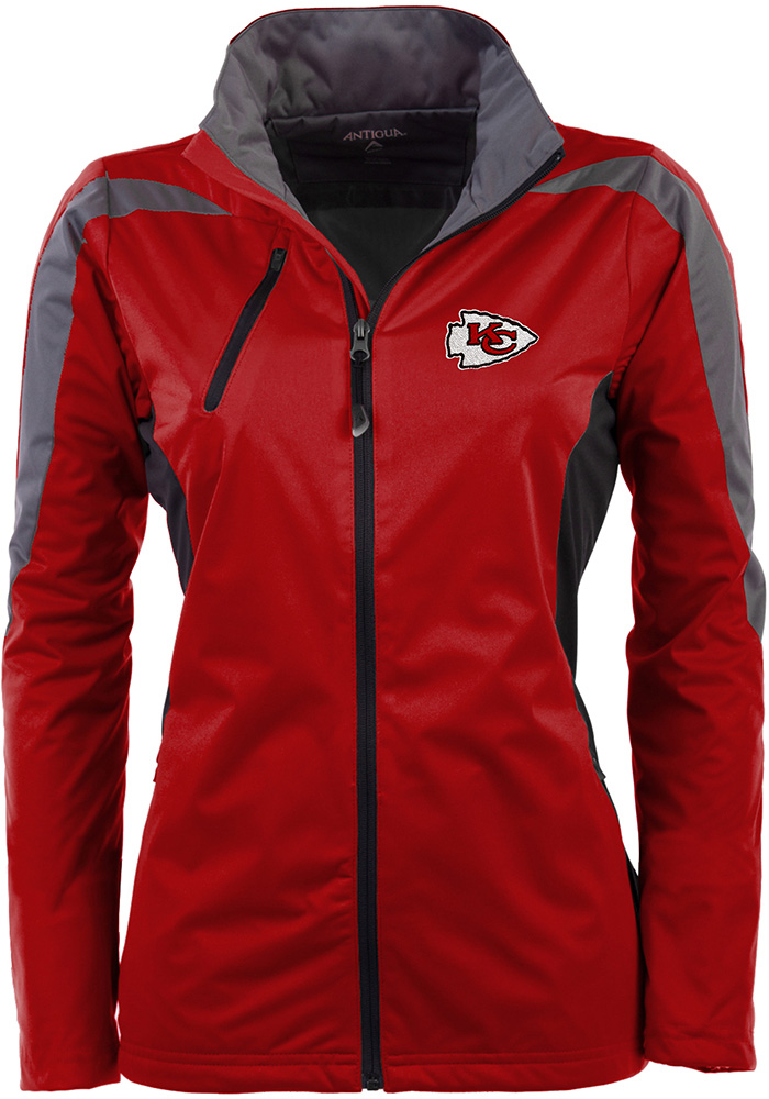Antigua Kansas City Chiefs Womens Red Discover Light Weight Jacket - Image 1
