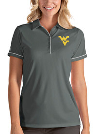 West Virginia Mountaineers Womens Antigua Salute Polo Shirt - Grey