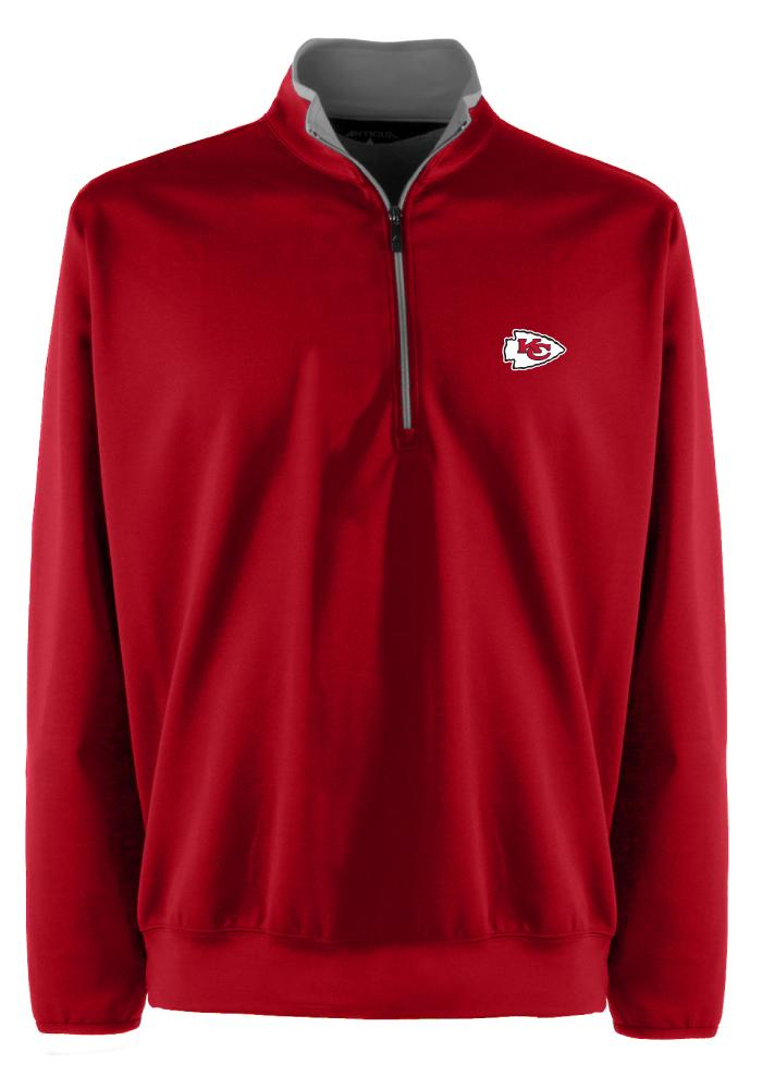 Antigua Kansas City Chiefs Mens Red Leader Long Sleeve 1/4 Zip Pullover - Image 1