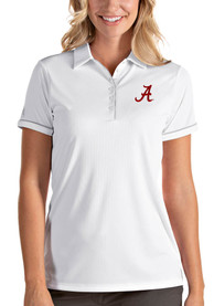 Alabama Crimson Tide Womens Antigua Salute Polo Shirt - White