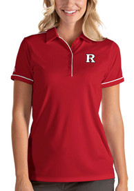 Rutgers Scarlet Knights Womens Antigua Salute Polo Shirt - Red