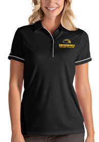 Southern Mississippi Golden Eagles Womens Antigua Salute Polo Shirt - Black