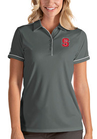 NC State Wolfpack Womens Antigua Salute Polo Shirt - Grey