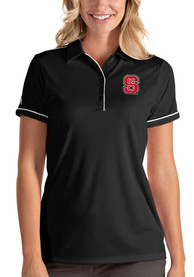NC State Wolfpack Womens Antigua Salute Polo Shirt - Black