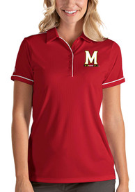 Maryland Terrapins Womens Antigua Salute Polo Shirt - Red