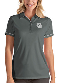 Georgetown Hoyas Womens Antigua Salute Polo Shirt - Grey