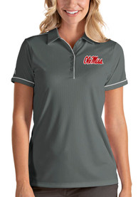 Ole Miss Rebels Womens Antigua Salute Polo Shirt - Grey