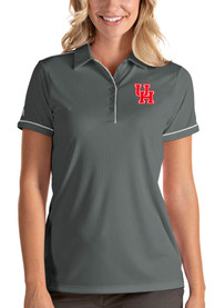Houston Cougars Womens Antigua Salute Polo Shirt - Grey