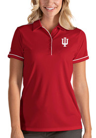 Indiana Hoosiers Womens Antigua Salute Polo Shirt - Red