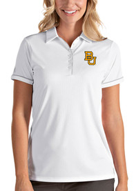 Baylor Bears Womens Antigua Salute Polo Shirt - White