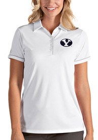 BYU Cougars Womens Antigua Salute Polo Shirt - White
