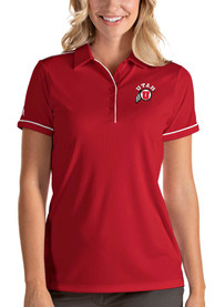 Utah Utes Womens Antigua Salute Polo Shirt - Red