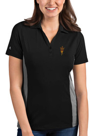 Arizona State Sun Devils Womens Antigua Venture Polo Shirt - Black