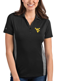 West Virginia Mountaineers Womens Antigua Venture Polo Shirt - Grey