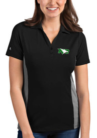 North Dakota Fighting Hawks Womens Antigua Venture Polo Shirt - Black