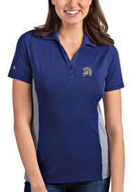 San Jose State Spartans Womens Antigua Venture Polo Shirt - Blue