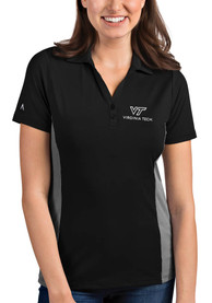 Virginia Tech Hokies Womens Antigua Venture Polo Shirt - Black