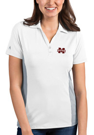 Mississippi State Bulldogs Womens Antigua Venture Polo Shirt - White