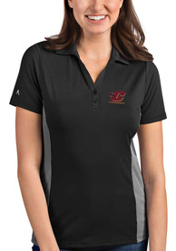 Central Michigan Chippewas Womens Antigua Venture Polo Shirt - Grey
