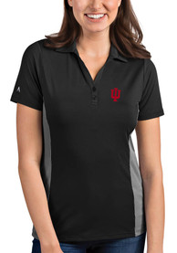Indiana Hoosiers Womens Antigua Venture Polo Shirt - Grey